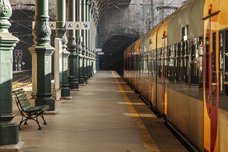 Porto treinstation duurzaam reizen door Europa