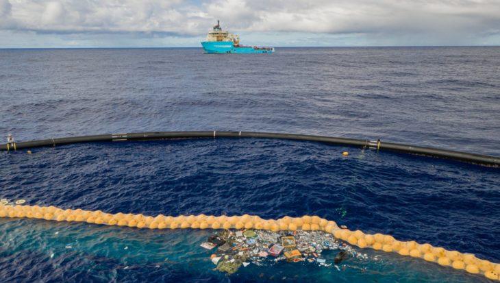 The Ocean Cleanup heeft succesvol plastic opgevangen