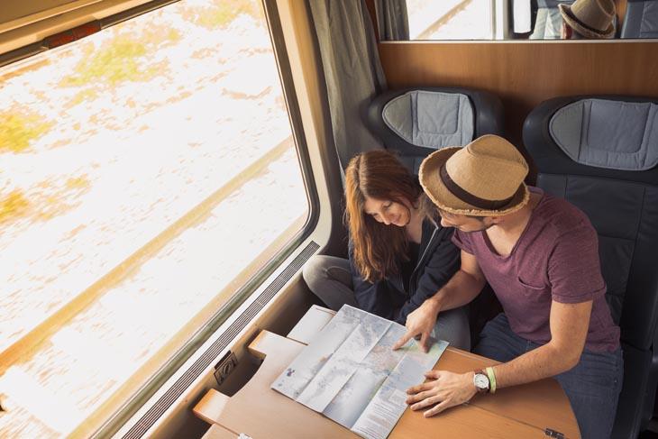 Groen reizen met de trein