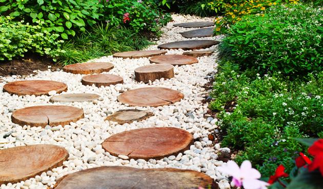Duurzame tuin pad