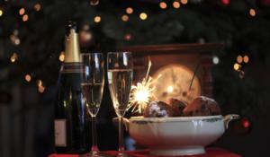 Duurzaam oud en nieuw vieren oliebollen en champagne