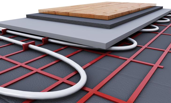 isolatie bij vloerverwarming