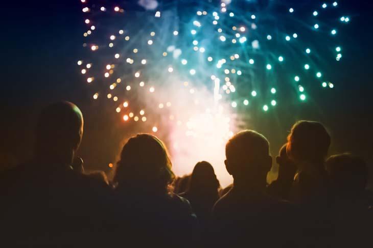 Duurzaam oud en nieuw vieren vuurwerkshow