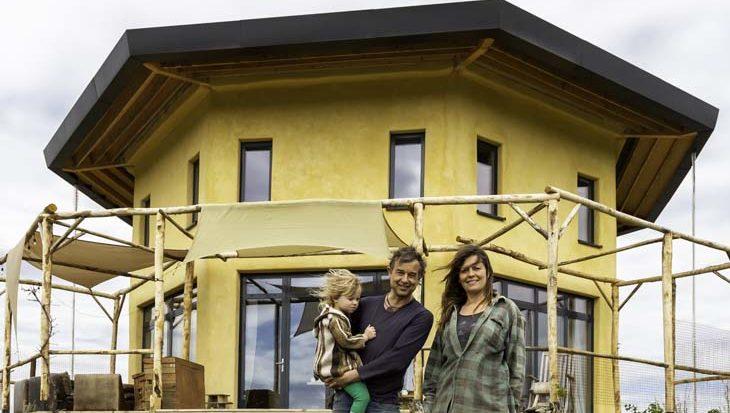 Duurzaam huis in Oosterwold door hergebruik van materialen