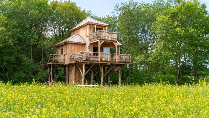 Milieuvriendelijk overnachten in een boomhuis