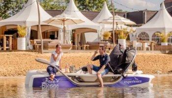 Ceclo elektrische waterfiets vakantiepark Maasbree