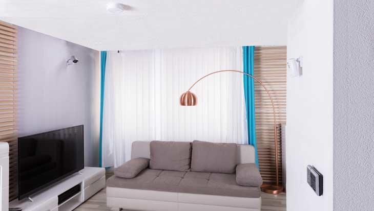 Slim lampje aan het plafond