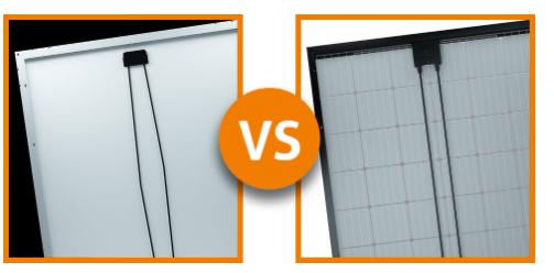 Achterkant Glas-Folie vs Glas-Glas Zonnepaneel verschillen