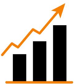 grafiek stijgende pijl omhoog